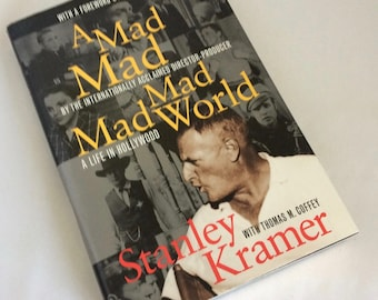 It's A Mad World, Stanley Kramer, Harcourt Brace, Hardcover, dj, 1997, movie producer,High Noon, On the Beach, Caine Mutiny, Hollywood films