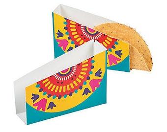 12/ Bright Latin Fiesta party Taco Holders / Fiesta theme/Cinco de Mayo/ Mexican party/ Fiesta Party