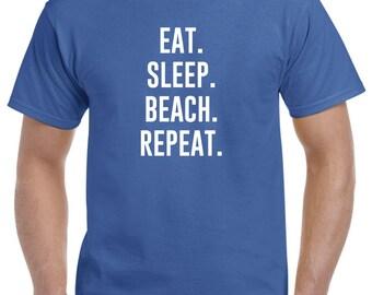 Eat Sleep Beach Repeat T Shirt