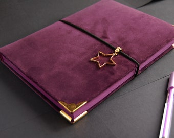 Notebook with dark purple paper
