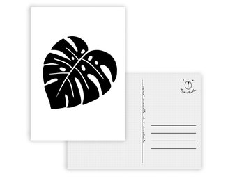 Black and white Monstera card