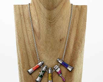 Necklace artist oil paints