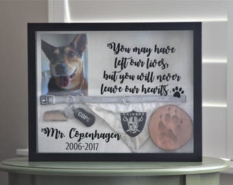 Dog Memorial, Pet Memorial, Pet Memorial Shadow Box, Dog, Shadow Box, Cat Memorial, Dog Memorial Shadow Box 11x14 Large