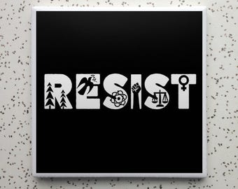 RESIST Tile Coaster