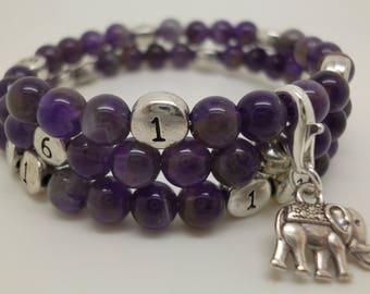 Nursing Amethyst treasure bracelet