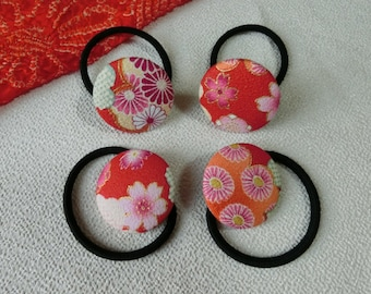 Handmade Japanese Fabric Hair Ties