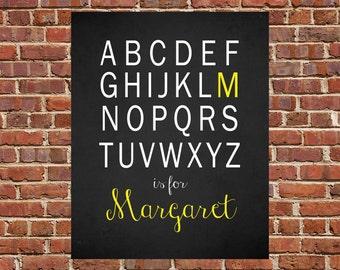 PRINTABLE Art ABC Decor ABC Wall Art Alphabet Wall Art Alphabet Decor Personalized Nursery Decor Childrens Wall Decor