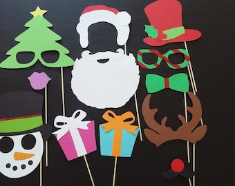 X 12 Christmas photobooth props