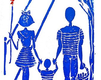 "Poster ""Lili and her tribe sailor"""