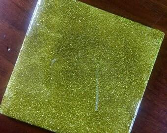 Glitter coated Ceramic tile Drink and Decorative Coaster