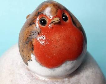 Ceramic robin box, memory box, trinket box, jewellery box, handmade,ooak, original art, bird gift, Christmas gift. Bird lovers gift.