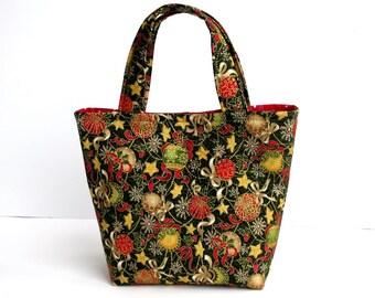 Christmas Bag, Girl's Bag, Mini Tote Bag, Kids Bag, Handbag for Girls, Christmas Stocking, Christmas Gift, Christmas Outfit, Xmas Gift