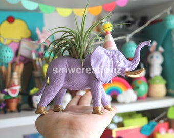 Custom Elephant Planter with Air Plant Room Decor- Home Decor- Birthday Gift- Teacher Gift- Party Favor- Zoo Party