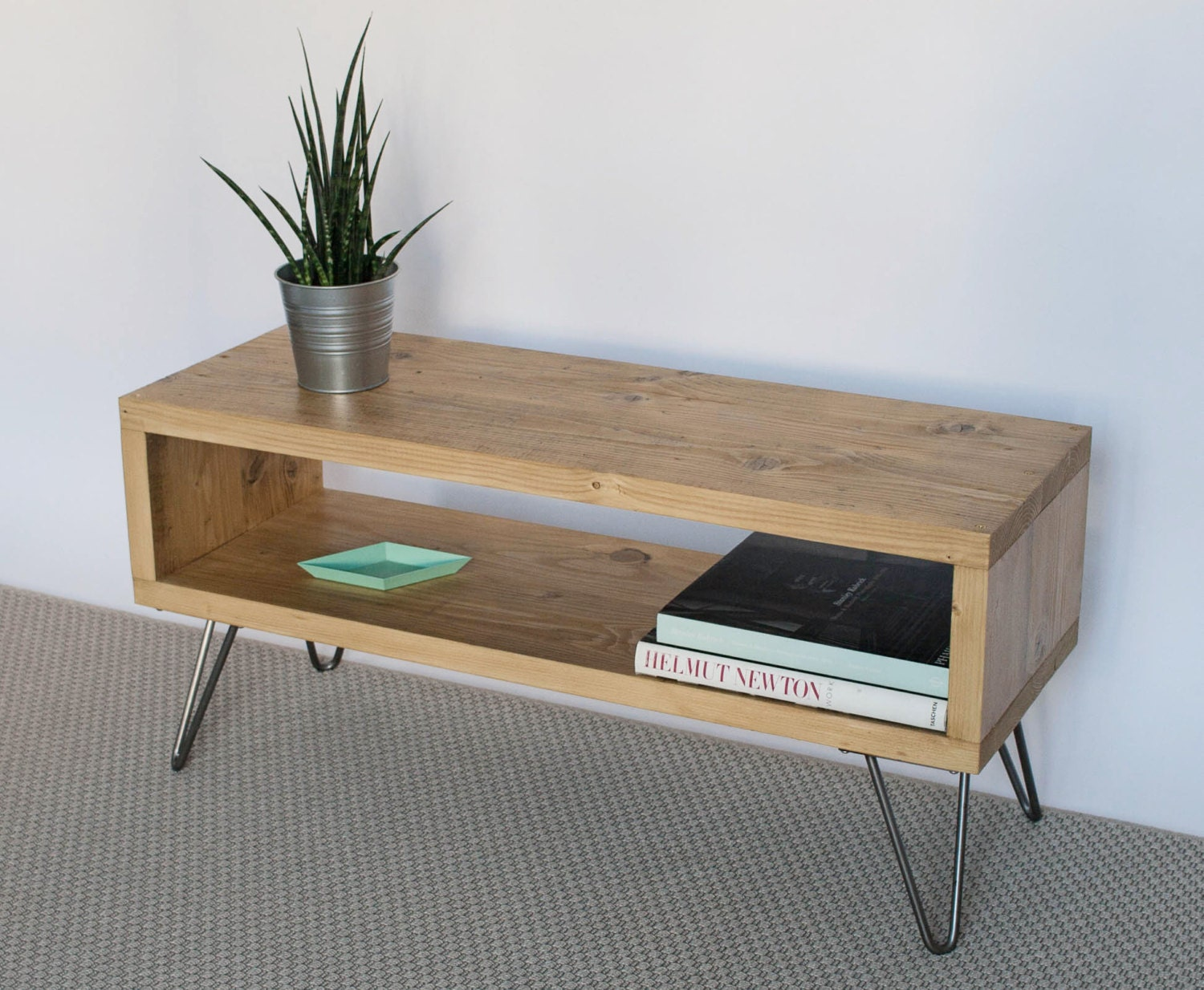Wooden Tv Stands ~ Emily reclaimed wood tv stand cabinet hairpin legs