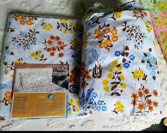 Twin Flat and fitted sheets NOS