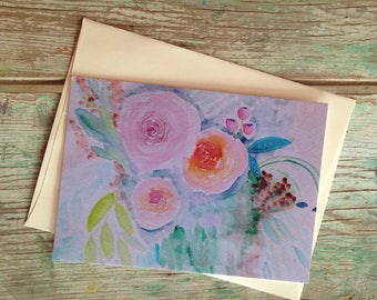 Elaine - the PostCard Print, Original Art Print, Happy Mail, Snail Mail