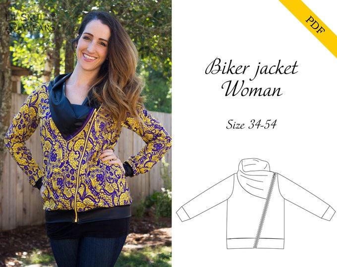Biker jacket women 34-54 PDF-pattern