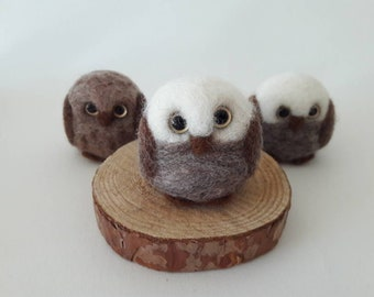 Felted lovely owl small gift party favor keepsake
