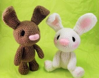 Little Bunny Amigurumi Pattern, Easter Rabbit Crochet Pattern PDF file only, doll not included.