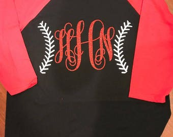 Basball Monogram Raglan Shirt