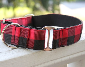 """The Lumberjack Red 1.5"""" Martingale Collar"""