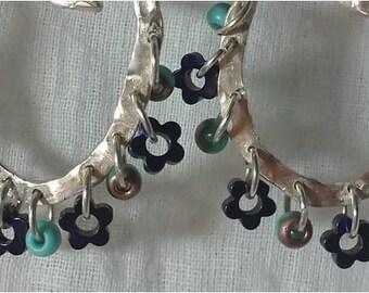 circle earrings silver circle earrings circle hoops earrings hammered silver hoops hammered hoop earrings