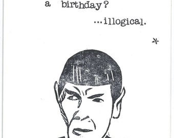 Spock Star Trek Birthday Card