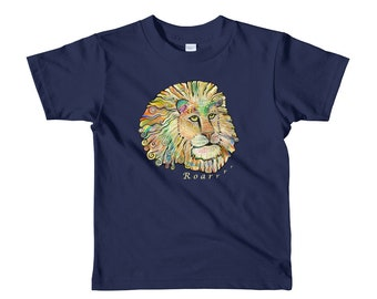 Kids lion t-shirt, Toddler lion tshirt, 2T lion tshirt, 4T tshirt, 6t animal tshirt, Rainbow lion Shirt, The Fonz Lion Shirt