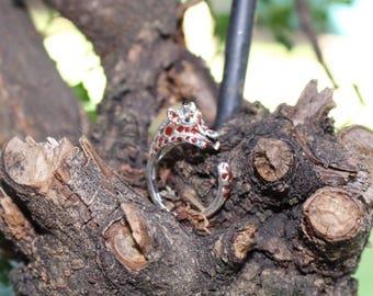 My silver 925 ring hug giraffe