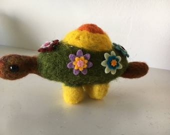 Needle Felted Turtle made with Bergschaf Wool