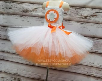 FOUR-LAYERED! Customizable BB8 Inspired Tutu Dress, BB8 Costume, BB8 Dress, Halloween, BB8 Tutu Dress, Star Wars, Leia Costume, Leia Tutu