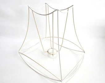 Wire lampshade frame etsy lampshade frame wire frame authentic vintage lampshade wire frame lampshade frame diy greentooth Images