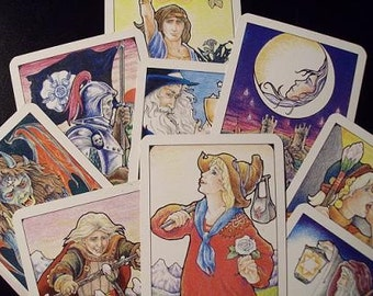 Nine card spread tarot card reading