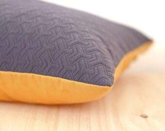 Grey geometric Cushion cover