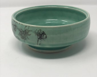 Green Porcelain Serving Bowl