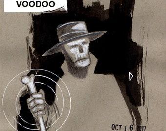 INKTOBER Day 16 - Voodoo (Original Drawing)
