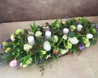 Ready to ship! Easter arrangement, easter decor, spring arrangement, centerpiece
