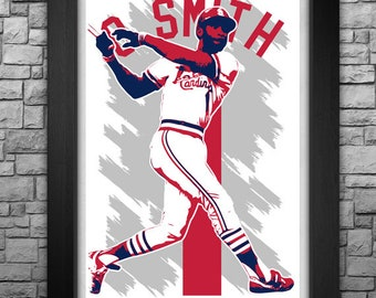 "OZZIE SMITH 11x17"" art print."