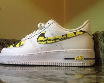 """Nike Air Force 1 """"Wu-Tang Clan' Custom Designed and Painted Avail. in all sizes"""