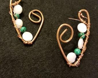 Snow Peas Bronze Earrings
