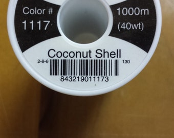 Hemingworth 1117 Coconut Shell Machine Embroidery Thread