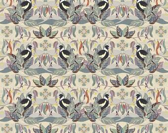 Horizons Kathy Doughty, MAGPIE HORIZON DREAMY, Free Spirit Fabric, Woodland Fabric, Australia Fabric, Quilt Fabric, Bird, Fabric By the Yard