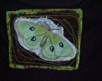 Luna moth bodysuit 12months boutique gift baby shower toddler