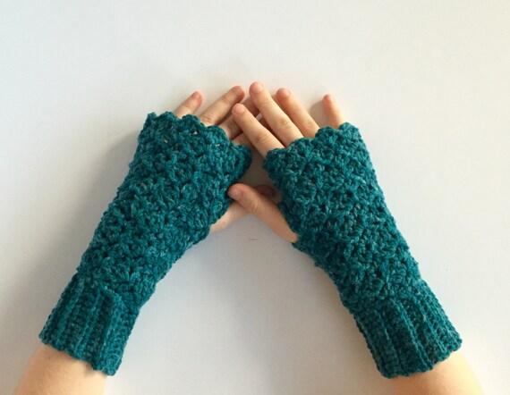Crochet PATTERN fingerless gloves - wrist warmer - fingerless gloves ...