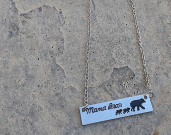 Mama Bear Necklace With Two Cubs