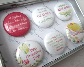 Mother's Day Magnets, Gift for Grandma, Nana Magnets, Custom Magnet Set