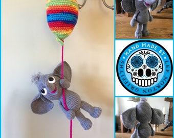 amigurumi elephant pattern, crochet elephant pattern, elephant pattern, balloon pattern, crochet pattern, amigurumi pattern