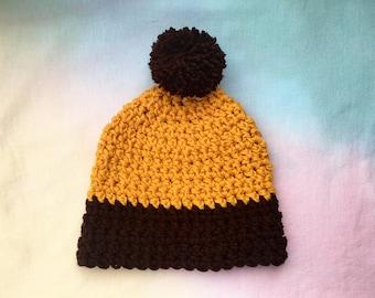Crocheted warm winter beanie!