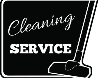 Cleaning Logo #16 Maid Service Housekeeper Housekeeping Clean Vacuum Mop Floor .SVG .EPS .PNG Digital Clipart Vector Cricut Cutting Download