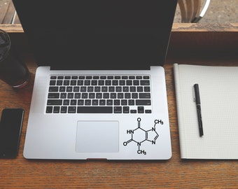 Chocolate Molecule, Theobromine Decal, Laptop Stickers, Macbook Stickers, Science Stickers, Popular Stickers, Cool Stickers, Vinyl Decal, 76